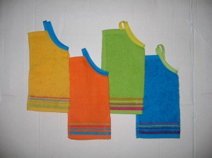 bright and bold striped bibs