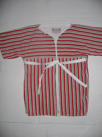 candy cane toddler robe