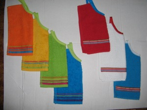 Colorful bibs