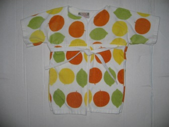 lemon lime toddler robe