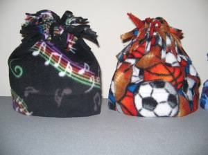 Baby hats in music and sports themes