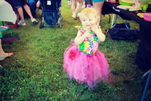 Little girl modeling a tutu