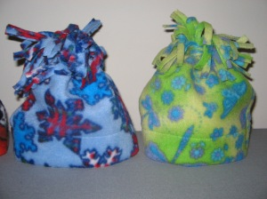Snowflakes and dragonflies design on baby hats