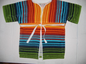 striped toddler robe